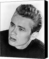 1950s Fashion Canvas Prints - James Dean (1931-1955) Canvas Print by Granger