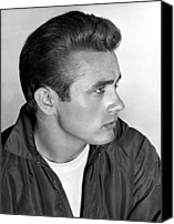 T-shirt Photo Canvas Prints - James Dean, 1955 Canvas Print by Everett