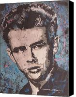Dean Canvas Prints - James Dean Blues Canvas Print by Eric Dee