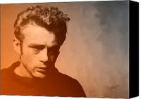 Handsome Canvas Prints - James Dean Canvas Print by Debbie McIntyre