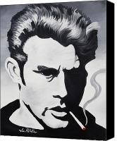 Joseph Palotas Canvas Prints - James Dean  Canvas Print by Joseph Palotas