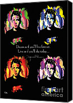 Dean Canvas Prints - James Dean Canvas Print by Mo T