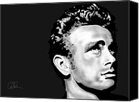 Celebrity Special Promotions - James Dean Canvas Print by Penny Ovenden