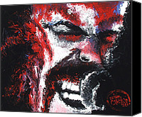 Hyper-realism Canvas Prints - James Hetfield Canvas Print by Brian Carlton