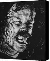 Heavy Metal Canvas Prints - James Hetfield Canvas Print by Steve Hunter