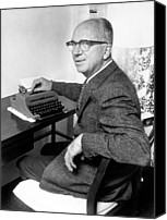 Typewriter Canvas Prints - James Michener, 09-28-70 Canvas Print by Everett