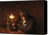 Oil Lamp Painting Canvas Prints - James Peale Canvas Print by Charles Willson Peale