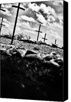 Jamestown Canvas Prints - Jamestown Cemetery Canvas Print by Bill Cannon