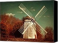 Jamestown Canvas Prints - Jamestown Windmill Canvas Print by Lourry Legarde