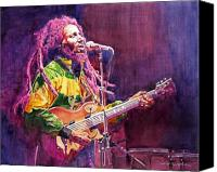 Featured Painting Canvas Prints - Jammin - Bob Marley Canvas Print by David Lloyd Glover