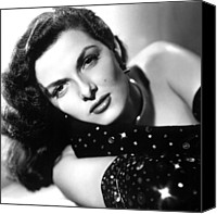Choker Canvas Prints - Jane Russell, Ca. Late 1940s Canvas Print by Everett