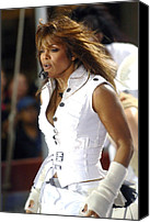 Red Carpet Canvas Prints - Janet Jackson On Stage For Janet Canvas Print by Everett