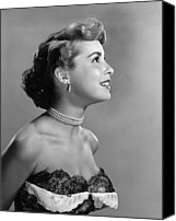 Choker Canvas Prints - Janet Leigh, Ca. Early 1950s Canvas Print by Everett