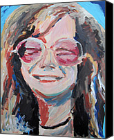 Jon Baldwin Art Canvas Prints - Janis Joplin  Canvas Print by Jon Baldwin  Art