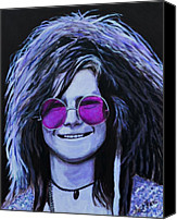 Singer Painting Canvas Prints - Janis Joplin Canvas Print by Shirl Theis
