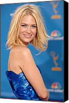 Nokia Theatre Canvas Prints - January Jones At Arrivals For Academy Canvas Print by Everett