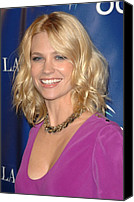 Lip Gloss Canvas Prints - January Jones At Arrivals For Oceanas Canvas Print by Everett