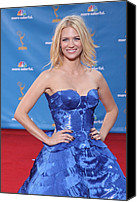 Nokia Theatre Canvas Prints - January Jones Wearing An Atelier Canvas Print by Everett