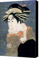 Portrait Woodblock Canvas Prints - JAPAN: ACTOR, c1794 Canvas Print by Granger