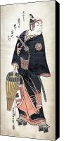Portrait Woodblock Canvas Prints - JAPAN: MAN, c1743 Canvas Print by Granger