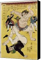 Sumo Wrestler Canvas Prints - Japan: Sumo Wrestling Canvas Print by Granger