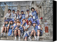 Acropolis Canvas Prints - Japan Womens Soccer Team Canvas Print by David Bearden