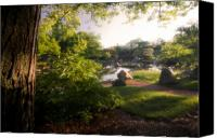 Morning Sun Canvas Prints - Japanese Garden in the morning Canvas Print by Sven Brogren