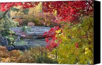 Gardens Canvas Prints - Japanese Gardens Canvas Print by Idaho Scenic Images Linda Lantzy
