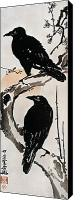 Flk Canvas Prints - Japanese Print: Crow Canvas Print by Granger