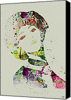 Attractive Canvas Prints - Japanese woman Canvas Print by Irina  March