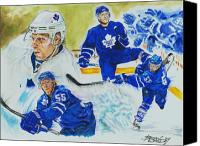 Toronto Maple Leafs Canvas Prints - Jason Blake Canvas Print by Brian Child