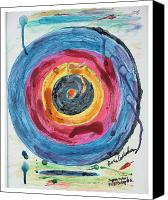 Peggy Guggenheim Canvas Prints - Jasper Johns Flight Delay Number 5 Canvas Print by Kevin Callahan