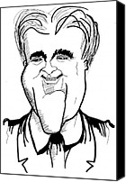 Featured Drawings Special Promotions - Jay Leno Canvas Print by Al Elumn