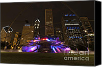Pavilion Canvas Prints - Jay Pritzker Pavilion Chicago Canvas Print by Adam Romanowicz