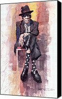 Portret Canvas Prints - Jazz Bluesman John Lee Hooker Canvas Print by Yuriy  Shevchuk