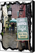 Buffet Canvas Prints - Jazz Brunch Canvas Print by Linda Kish
