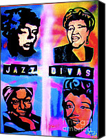 Nina Simone Canvas Prints - Jazz Divas  Canvas Print by Tony B Conscious