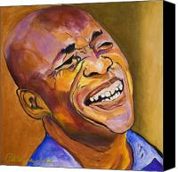 Singer Painting Canvas Prints - Jazz Man Canvas Print by Pat Saunders-White