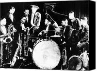 Tuba Canvas Prints - JAZZ MUSICIANS, c1925 Canvas Print by Granger
