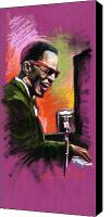 Pastel Canvas Prints - Jazz. Ray Charles.2. Canvas Print by Yuriy  Shevchuk