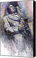 Star Man Canvas Prints - Jazz Saxophonist Charlie Parker Canvas Print by Yuriy  Shevchuk
