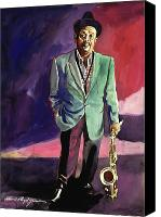 Legend Canvas Prints - Jazzman Ben Webster Canvas Print by David Lloyd Glover