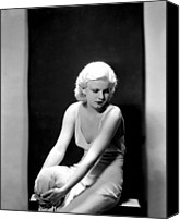 Harlow Canvas Prints - Jean Harlow, 1932 Canvas Print by Everett