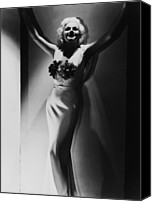 Harlow Canvas Prints - Jean Harlow, 1935 Canvas Print by Everett