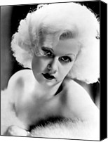 Harlow Canvas Prints - Jean Harlow, Ca. 1932-33 Canvas Print by Everett