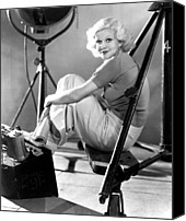 Harlow Canvas Prints - Jean Harlow, Ca. 1934-35 Canvas Print by Everett