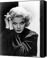 Harlow Canvas Prints - Jean Harlow, Ca. 1936 Canvas Print by Everett