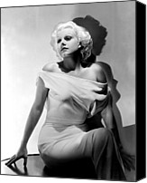 Harlow Canvas Prints - Jean Harlow Canvas Print by Everett