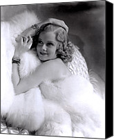Publicity Shot Canvas Prints - Jean Harlow, Mgm, 1930s Canvas Print by Everett