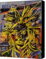 Neo Expressionism Canvas Prints - Jean Michel Canvas Print by Russell Pierce